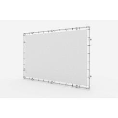 Wandmontage Banner Aluminium Spannrahmen Klemp KLEMP-WALL Konstuktionen