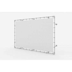 Wandmontage Banner Aluminium Spannrahmen auf Distanz Klemp KLEMP-WALL-DYS Konstuktionen