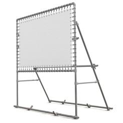 Freistehender Banner Aluminium Spannrahmen Klemp KLEMP-FREE Konstuktionen