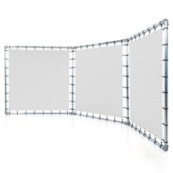 Falten Präsentationswand Banner Aluminium Spannrahmen Klemp SCIAN-LAM Konstuktionen