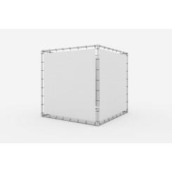Werbewürfel Banner Aluminium Spannrahmen Klemp KOST Konstuktionen