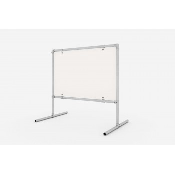 Freestanding advertising structure adjustable - under the dibond screen