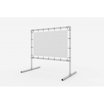 Freestanding advertising structure, adjustable - for banner