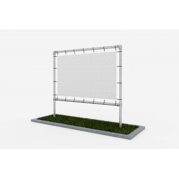 Freestanding advertising structure - under the banner