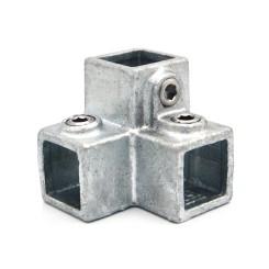 Dreiweg Eckstück 90° - 25 mm - Typ 18S-25 Klemp 608018S-25 Quadratische Rohrverbindungen