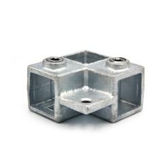 Corner With Trough Tube 90° Single Side - 25 mm - Type 21S-25 Klemp 608021S-25 Square Tubefittings
