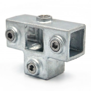 Side Outlet Tee - 25 mm - Type 24S-25 Klemp 608024S-25 Square Tubefittings