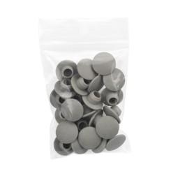 Plastic screw cap gray (25 pieces per bag) - Typ 78A - 21,3 mm Klemp 608078A Tubefittings