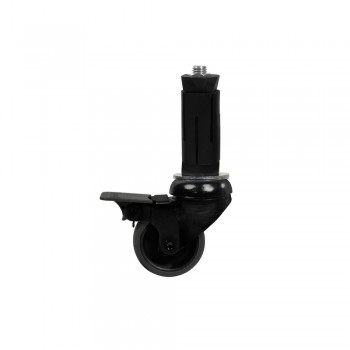 Swivel wheel black set - 50 mm with brake incl. Expander for tube 33.7 mm Klemp ZW050Z-E337 Accessories