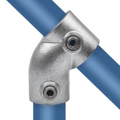 Rohrverbinder T-stück - kurz 45° - Typ 3E - 48,3 mm Klemp 608003E Runde Rohrverbindungen