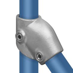 Rohrverbinder T-stück Kurz Verstellbar - Typ 7C - 33,7 mm Klemp 608007C Runde Rohrverbindungen