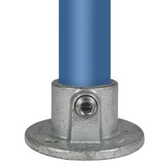 Łącznik ścienny - stopa okrągła - Typ 10E - 48