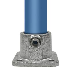 Rohrverbinder Quadratische Fußplatte - Typ 11D - 42,4 mm Klemp 608011D Runde Rohrverbindungen