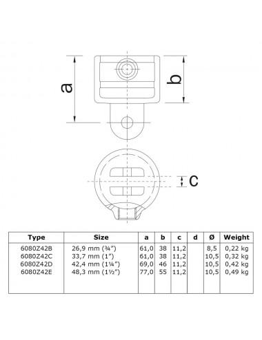 Schrauben Fitting Ø 21,3-60,3 mm durchgehend inkl Rohrverbinder Kreuzstück