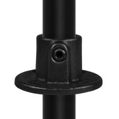 Round base plate open - Type 10TC - 33,7 mm (Black) Klemp 6080Z10TC Black Tubefittings