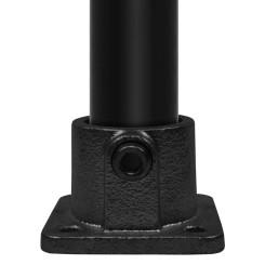 Square base plate - Type 11D - 42,4 mm (Black) Klemp 6080Z11D Black Tubefittings