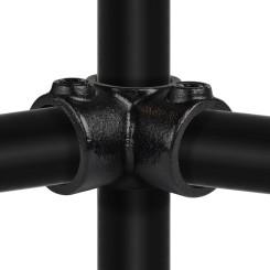 Rohrverbinder Eckstück Durchgehend - Typ 20C - 33,7 mm (Schwarz) Klemp 6080Z20C Schwarze Rohrverbindungen
