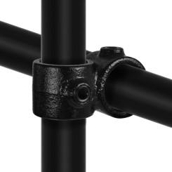 Rohrverbinder Kreuzstück Vorgesetzt 90° - Typ 28C - 33,7 mm (Schwarz) Klemp 6080Z28C Schwarze Rohrverbindungen