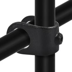 Rohrverbinder Kreuzstück Offen - Typ 33B - 26,9 mm (Schwarz) Klemp 6080Z33B Schwarze Rohrverbindungen