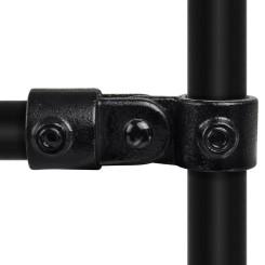 Rohrverbinder Elenkstück Einfach - Typ 44C - 33,7 mm (Schwarz) Klemp 6080Z44C Schwarze Rohrverbindungen