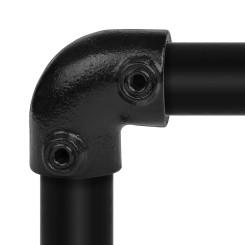 Rohrverbinder Bogen 90° - Typ 6D - 42,4 mm (Schwarz) Klemp 6080Z06D Schwarze Rohrverbindungen