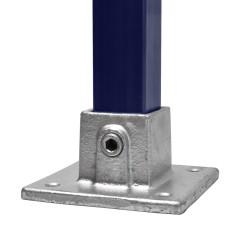 Rohrverbinder Fussplatte Quadratische - Typ 10S-40 Klemp 608010S-40 Quadratische Rohrverbindungen