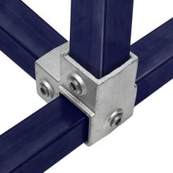 Rohrverbinder Eckstück Durchgehend - Typ 20S-40 Klemp 608020S-40 Quadratische Rohrverbindungen