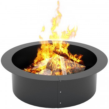 KLEMP Fire Pit – Cast Iron Fire Pit Ring for Garden – 90-cm Large Fire Bowl – Heavy-Duty Garden Fire Pits