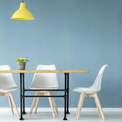 KLEMP Table Legs Industrial Metal Black Frame Set of 2 Industrial Style DIY  - 33.7 mm   1 Inch   Height: 72 cm   Width: 50 cm