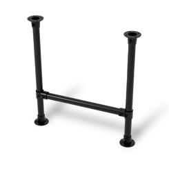 KLEMP Table Legs Industrial Metal Black Frame Set of 2 Table Legs Screw-On 42.4 mm 1 1/4 Inch Height 72 cm Width 50 cm Klemp ...
