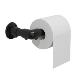 """Industrie Vintage Look Toilettenpapierhalter 3/4"""" WC Papierhalter Eisen Rohr DIY Handtuchhalter Schwarz Klemp 05-MZRZ-M10 Kle..."""