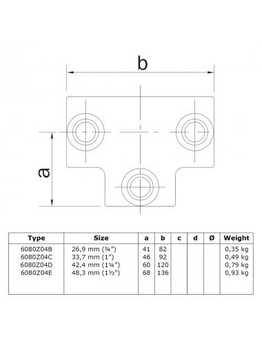 Rohrverbinder verschiedene Größen Überkreuzverbinder 90°